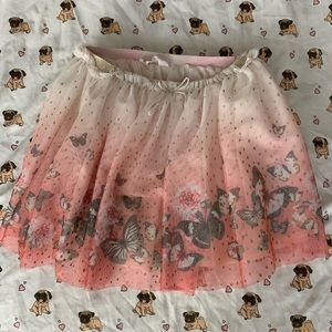 H&M Girls butterfly skirt size 6/8y